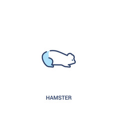 Hamster concept 2 colored icon simple line vector