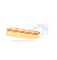 Hand brush sweep dust isolated vector