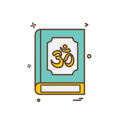 hindu holy book icon design vector image