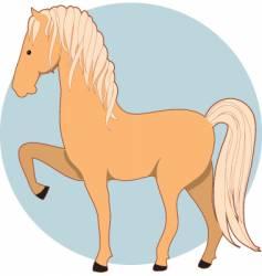 Horse palomino vector