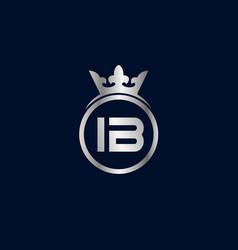 Initial letter ib logo template design vector
