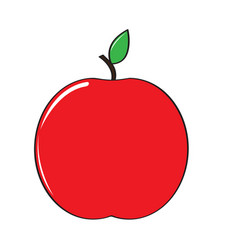 isolated comic apple icon vector image
