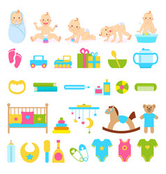 little kid character with various accessories vector image