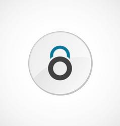 lock icon 2 colored vector image
