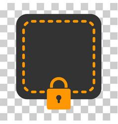 Locked wallet icon vector