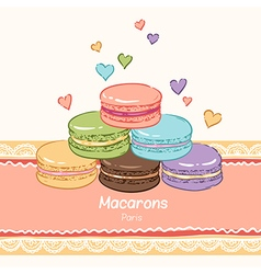 macarons paris lace vector image