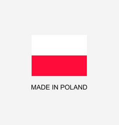 made in poland sign vector image