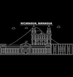 Managua silhouette skyline nicaragua - managua vector