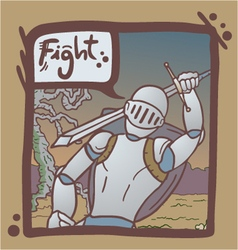 Medieval warrior scene vector