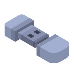 Micro usb flash icon isometric style vector