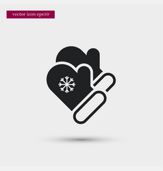 Mittens icon simple winter sign vector
