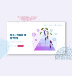 Mlm multi level marketing business website vector
