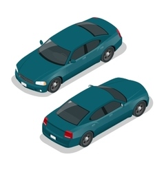 Modern car car icons flat 3d isometric vector