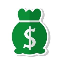 Money bag sack icon vector
