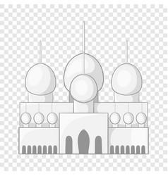 Mosque in uae icon cartoon style vector