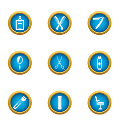 Mow icons set flat style vector