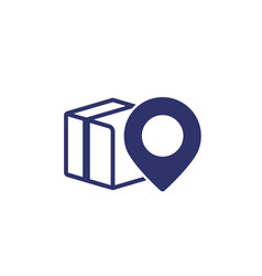 Parcel package delivery icon on white vector