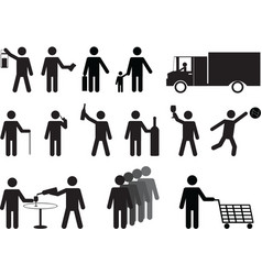 Pictograph people activities vector