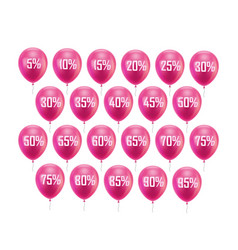 pink balloon discount vector image