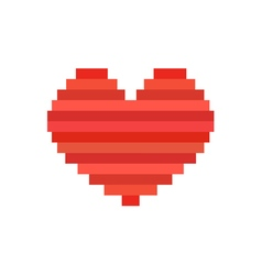 pixel art heart symbol of love vector image