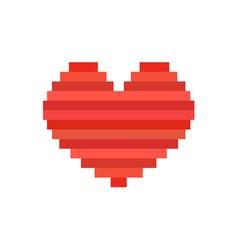 Pixel art heart symbol of love vector