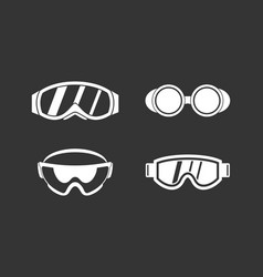 Protect glasses icon set grey vector