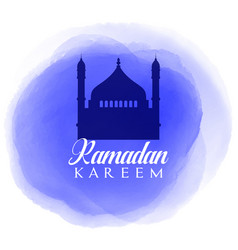 Ramadan kareem background with watercolour texture vector