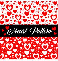romantic hearts valentine texture seamless pattern vector image