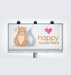 romantic valentines day festive billboard template vector image
