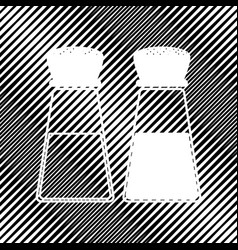 Salt and pepper sign icon hole in moire vector