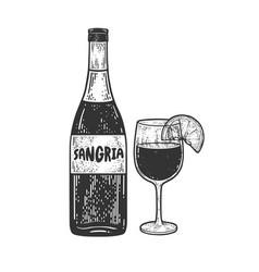 sangria alcoholic drink sketch vector image
