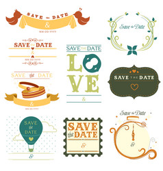 Save date tag vector