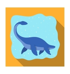 Sea dinosaur icon in flat style isolated on white vector