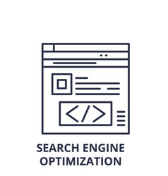 search engine optimization line icon concept vector image
