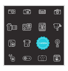 Set of Camera Photo Elements can be used as Logo vector image