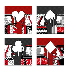 Set of poker cards casino vector