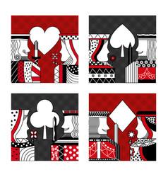 Set of poker cards casino vector