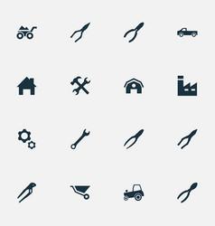 set of simple repair icons vector image