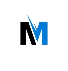 Sign of the letter M vector