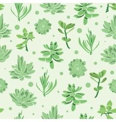 Succulent garden seamless pattern vector