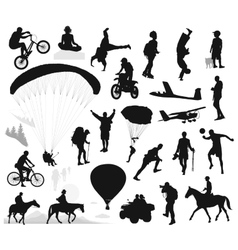 Summer activities and extreme sports set vector