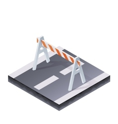 Traffic Barrier vector image
