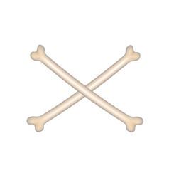 Two crossed bones vector