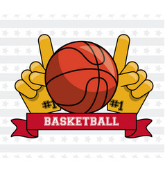 usa basketball sport game vector image