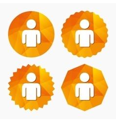 User sign icon Person symbol vector image