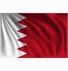 Waving bahrain vector
