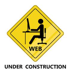 web under construction transit signal vector image