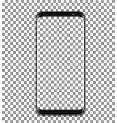black phone with transparent screen on vector image vector image