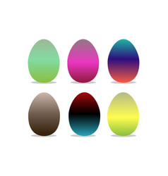 easter eggs colorful logo vector image vector image