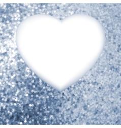 Elegant blue frame in the shape of heart EPS 8 vector image
